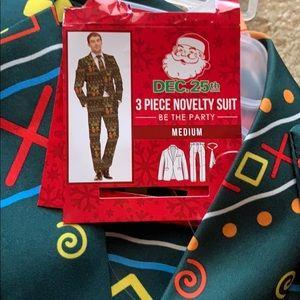 Other - NWT men 3 piece Christmas suit jacket, tie, pant M
